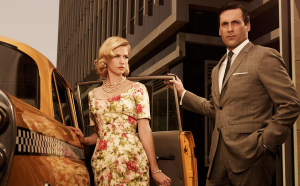 "Style: ""Mad Men""January Jones (Betty Draper) and Don Draper (Jon Hamm)"