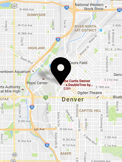Denver New Years Eve Party Map