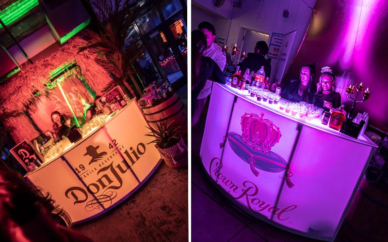 Bars for shots at Resolution NYE