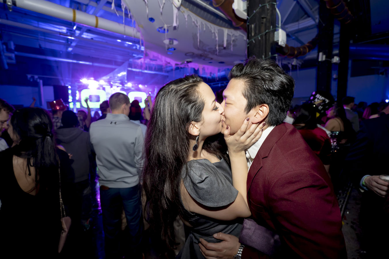 kissing for new years eve in denver